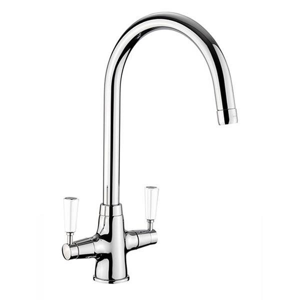 Rangemaster AquaClassic 2 Chrome Tap with White… Product Image